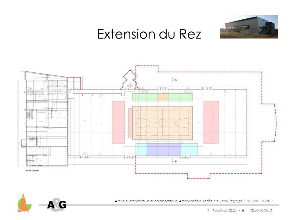Extension du Rez Atelier d'architecture et collaborateurs, Amphithéâtre Hadès, rue Henri Degorge 110 B-7301 HORNU.
