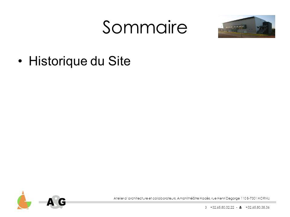 Sommaire Historique du Site