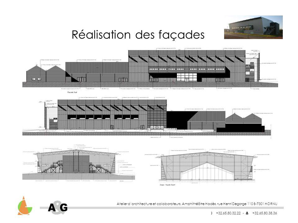 Réalisation des façades
