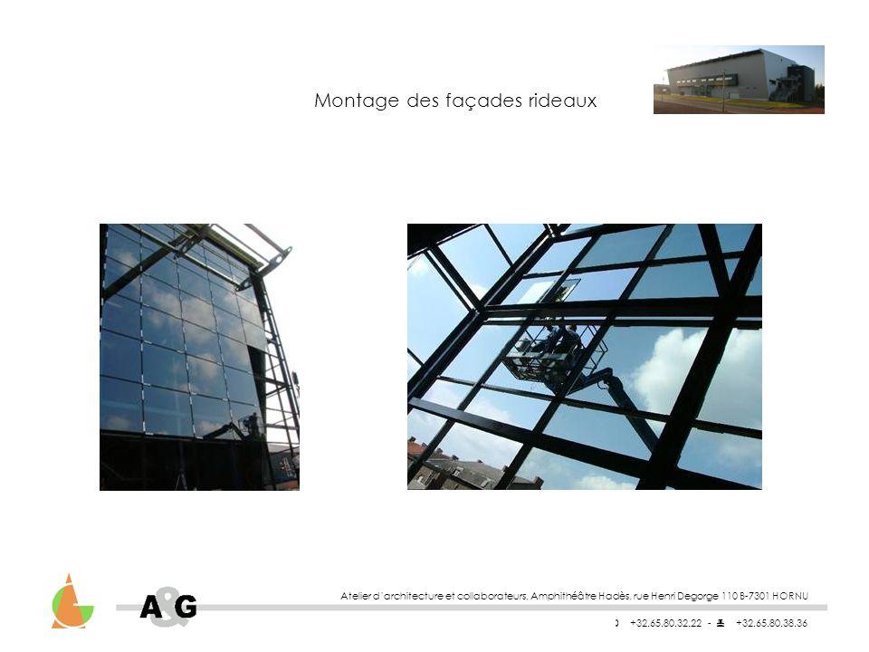 Montage des façades rideaux