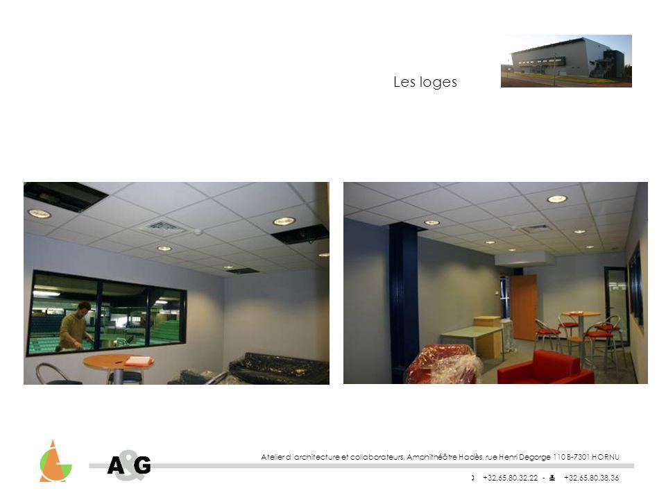 Les loges Atelier d'architecture et collaborateurs, Amphithéâtre Hadès, rue Henri Degorge 110 B-7301 HORNU.