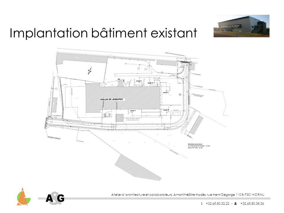 Implantation bâtiment existant