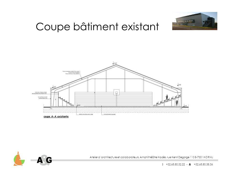 Coupe bâtiment existant