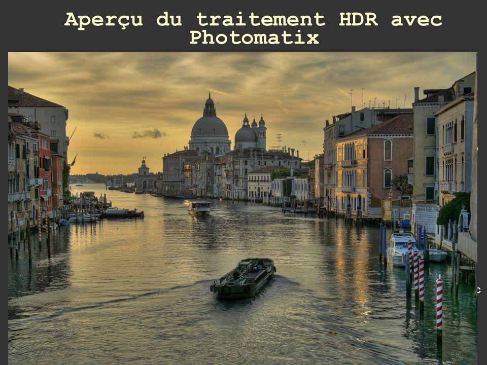 Aperçu du traitement HDR avec Photomatix