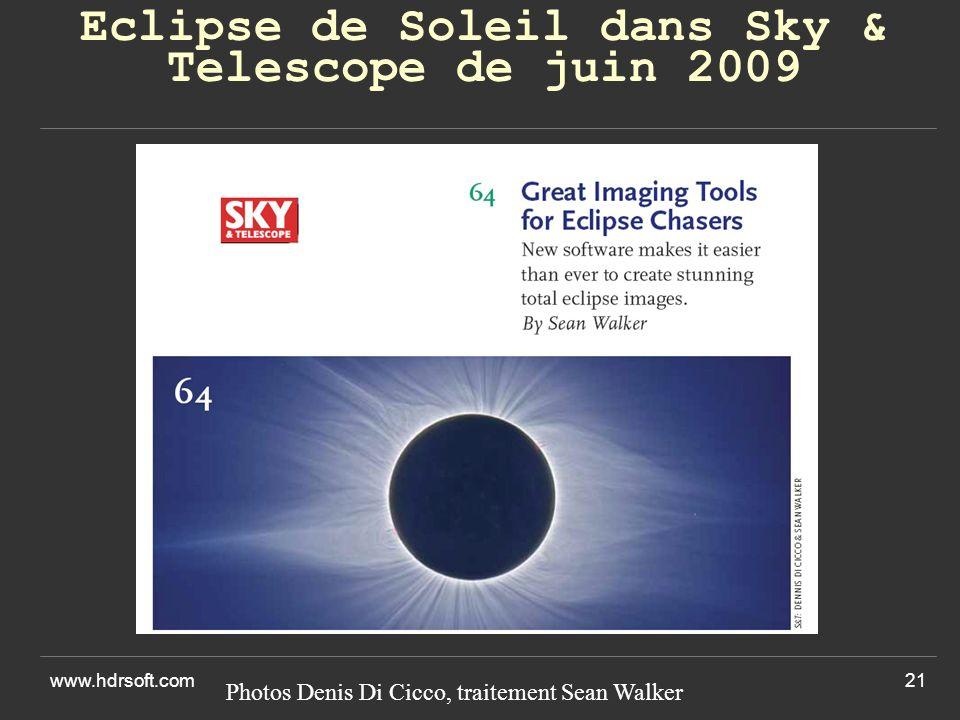 Eclipse de Soleil dans Sky & Telescope de juin 2009