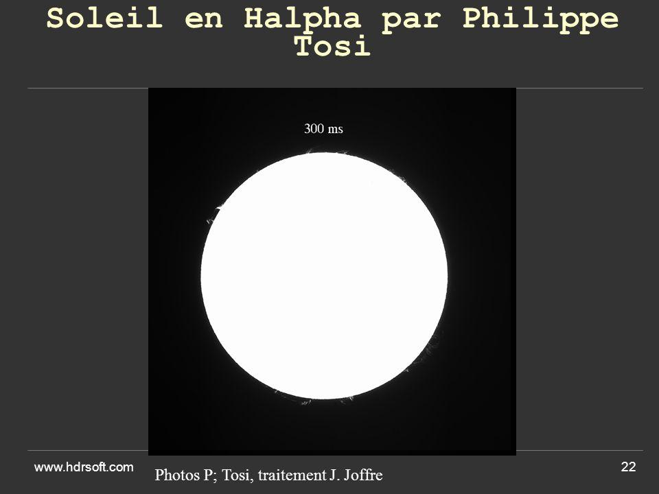 Soleil en Halpha par Philippe Tosi