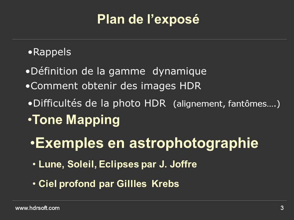 Exemples en astrophotographie