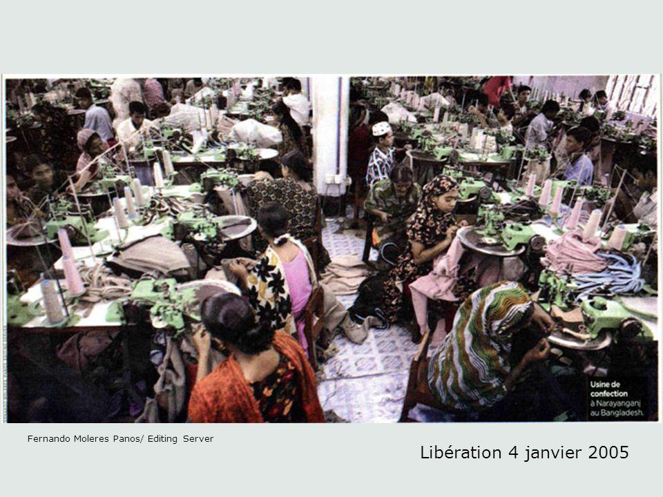 Libération 4 janvier 2005 Au contraire des photos illustratives