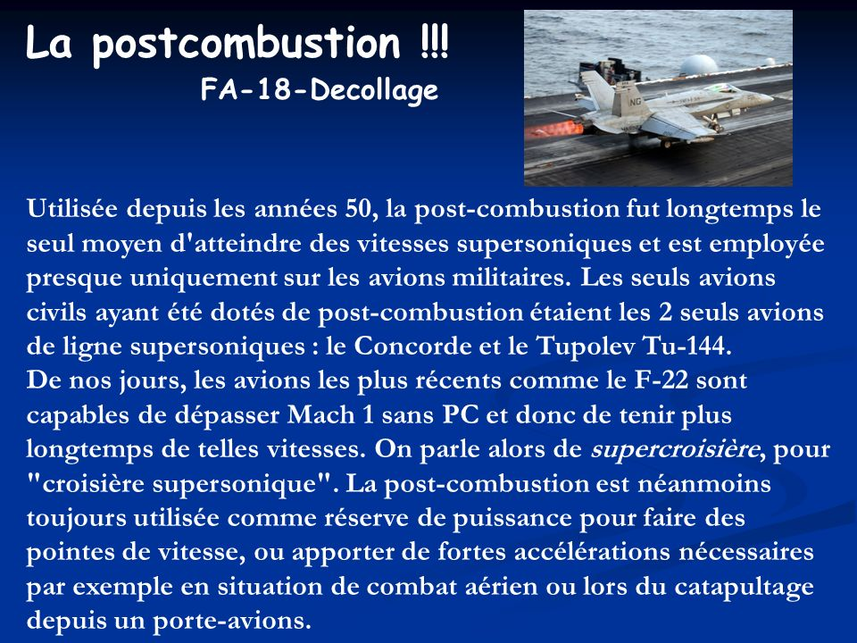 La postcombustion !!! FA-18-Decollage