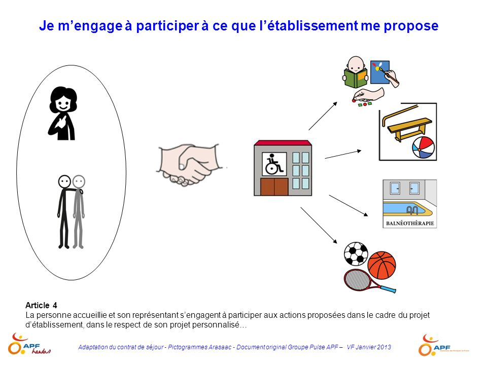 Je m'engage à participer à ce que l'établissement me propose