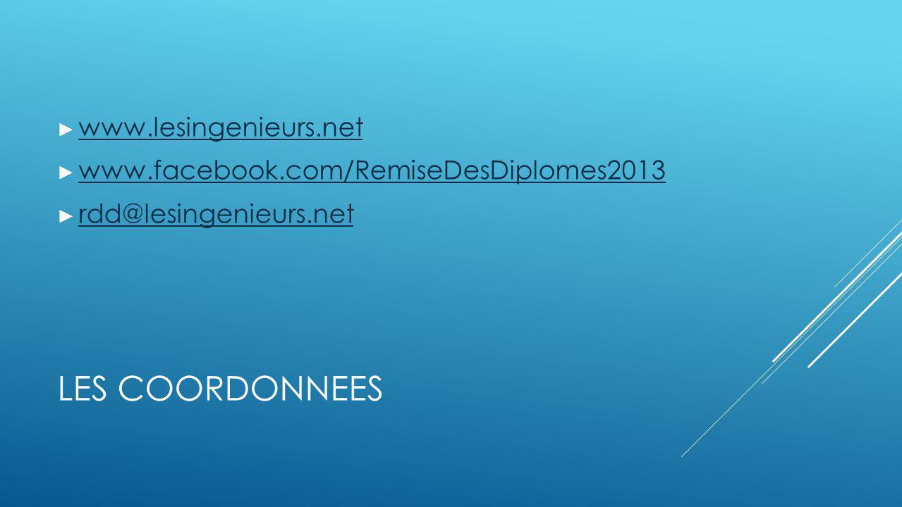 LES COORDONNEES www.lesingenieurs.net