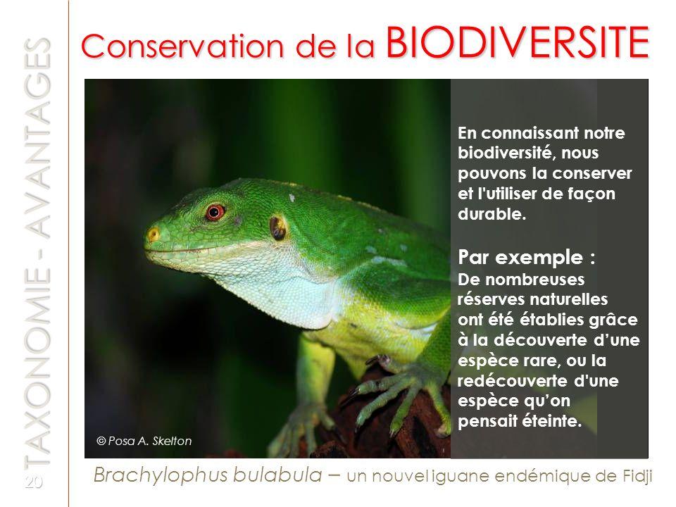 Conservation de la BIODIVERSITE