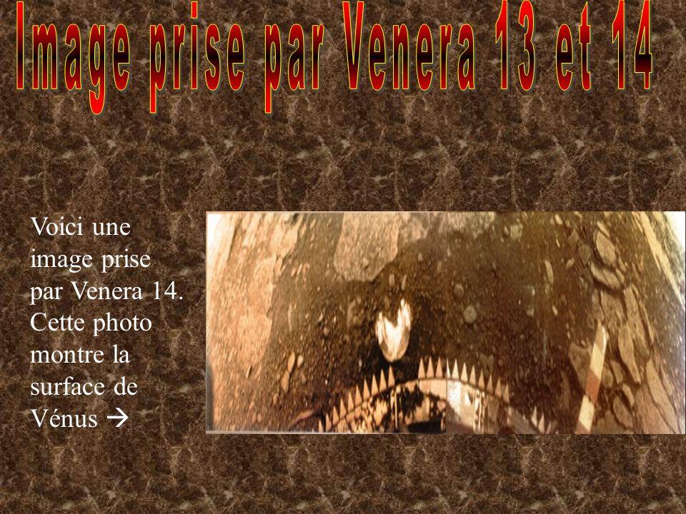 Image prise par Venera 13 et 14