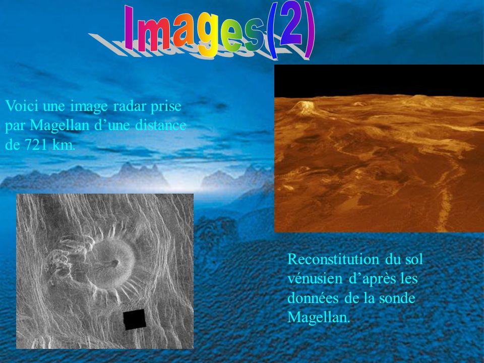 Images(2) Voici une image radar prise par Magellan d'une distance de 721 km.