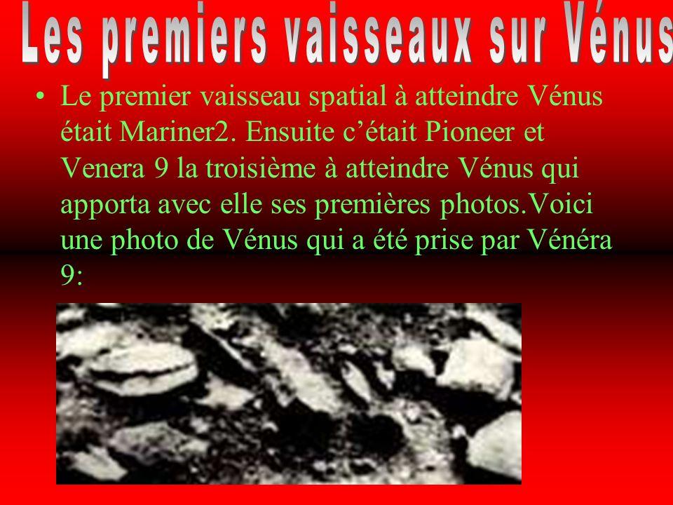 Les premiers vaisseaux sur Vénus