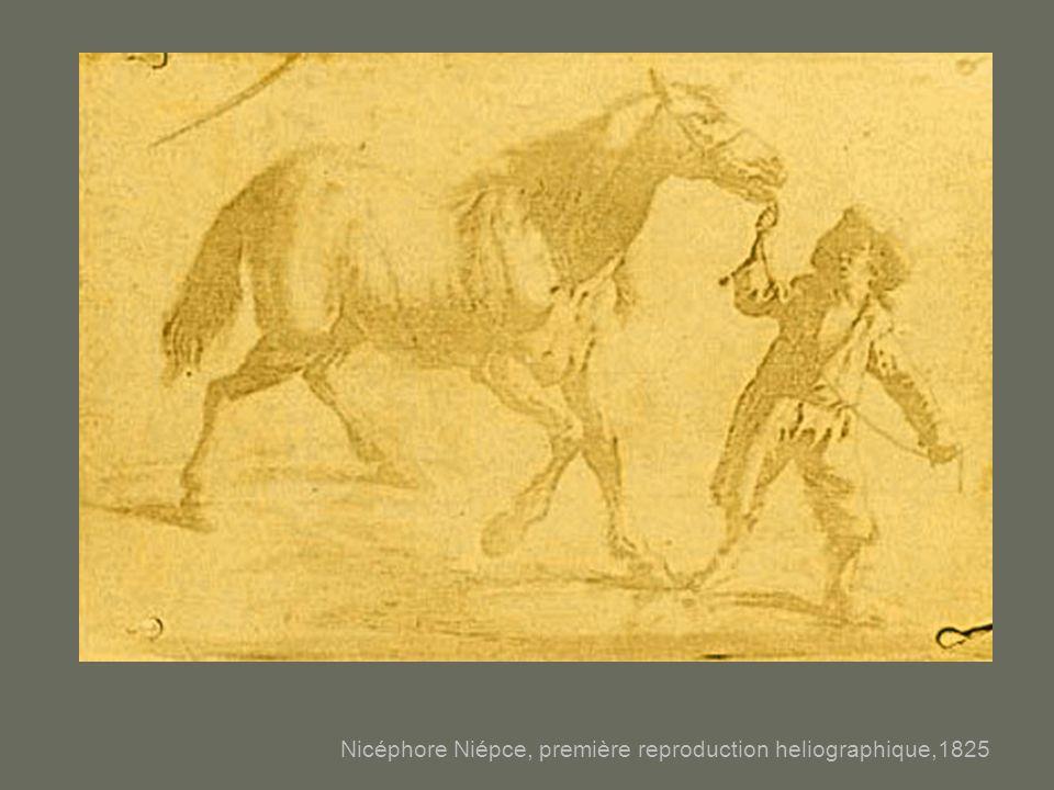Nicéphore Niépce, première reproduction heliographique,1825