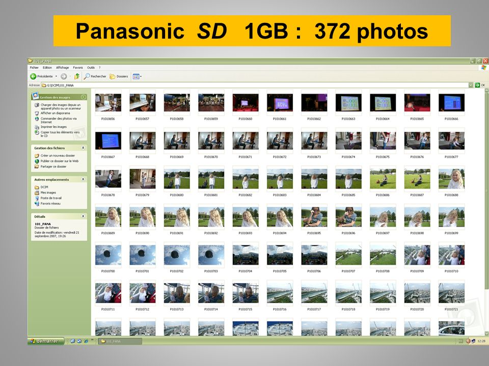Panasonic SD 1GB : 372 photos