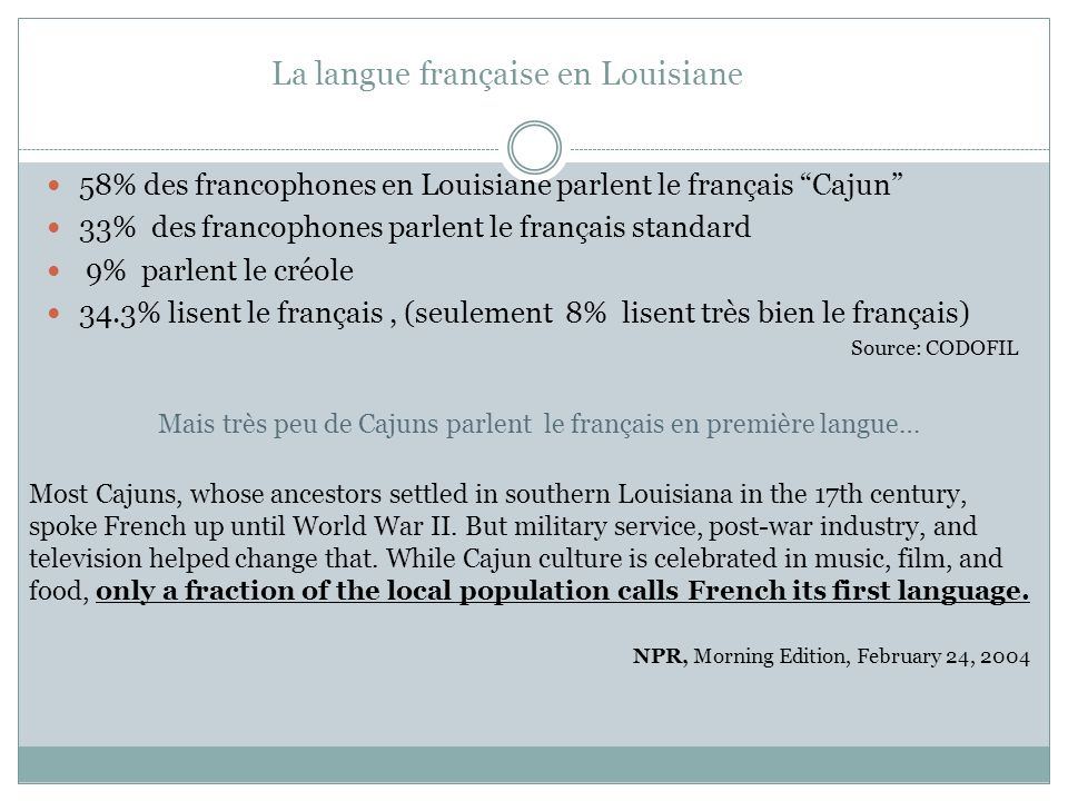 La langue française en Louisiane