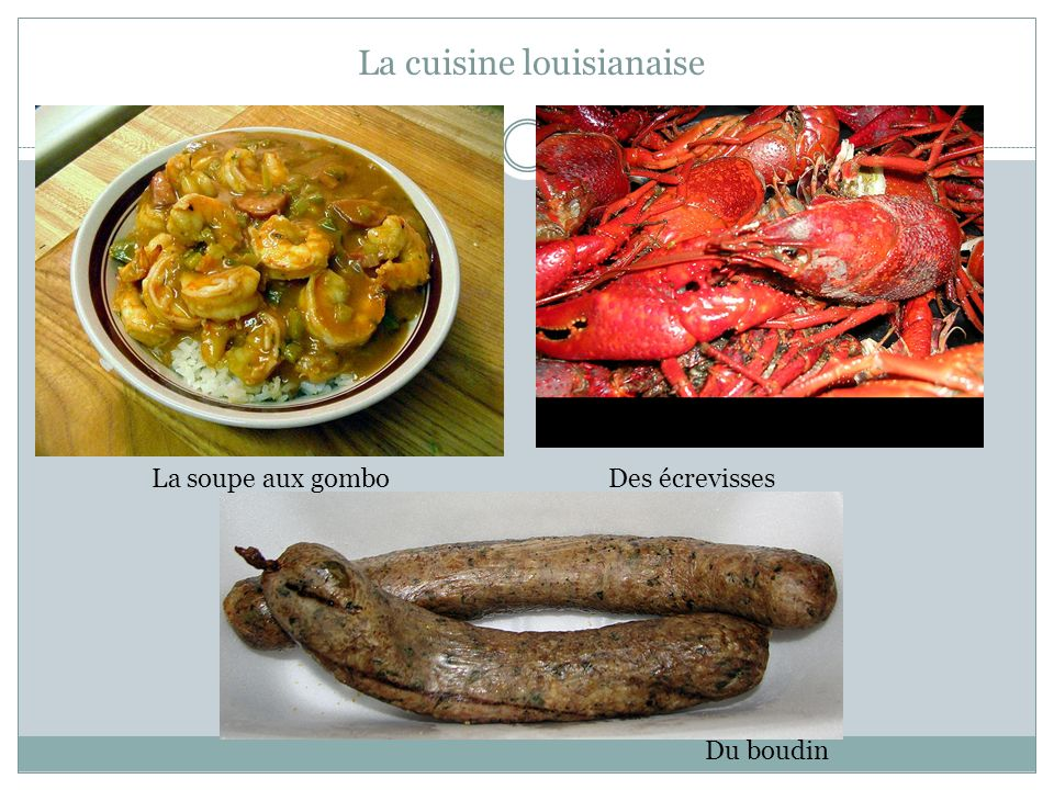 La cuisine louisianaise