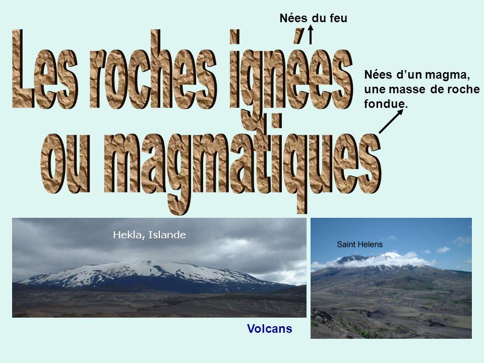 Les roches ignées ou magmatiques