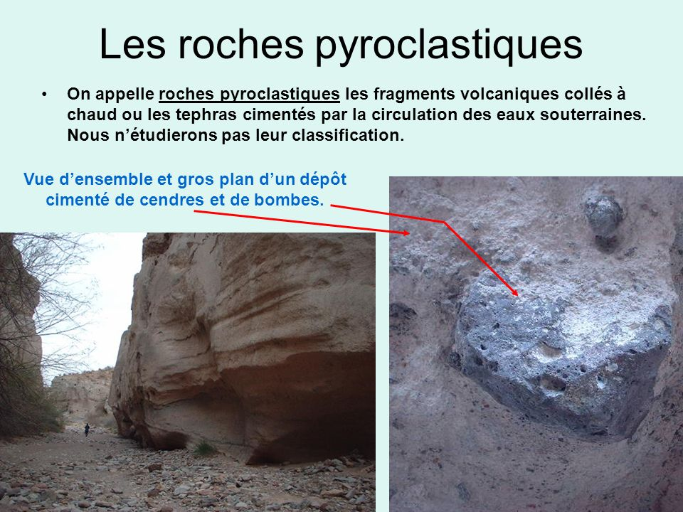 Les roches pyroclastiques