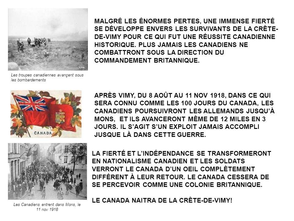 Les Canadiens entrent dans Mons, le 11 nov 1918