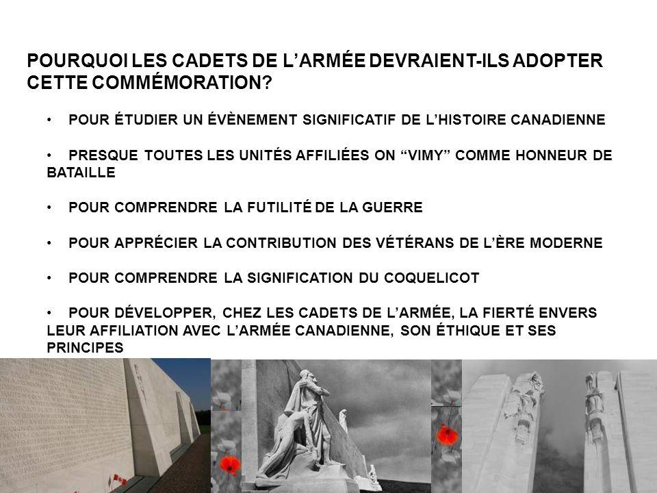 POURQUOI LES CADETS DE L'ARMÉE DEVRAIENT-ILS ADOPTER CETTE COMMÉMORATION