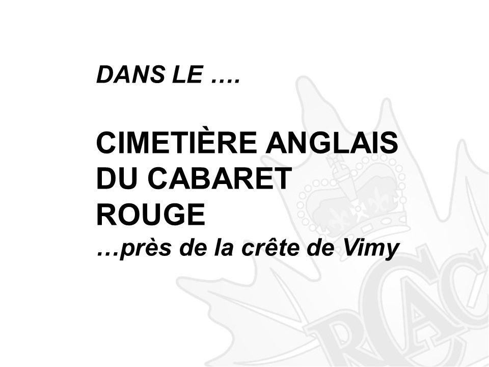 DANS LE …. CIMETIÈRE ANGLAIS DU CABARET ROUGE