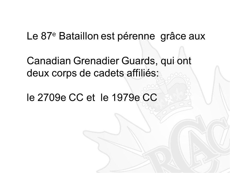 Le 87e Bataillon est pérenne grâce aux