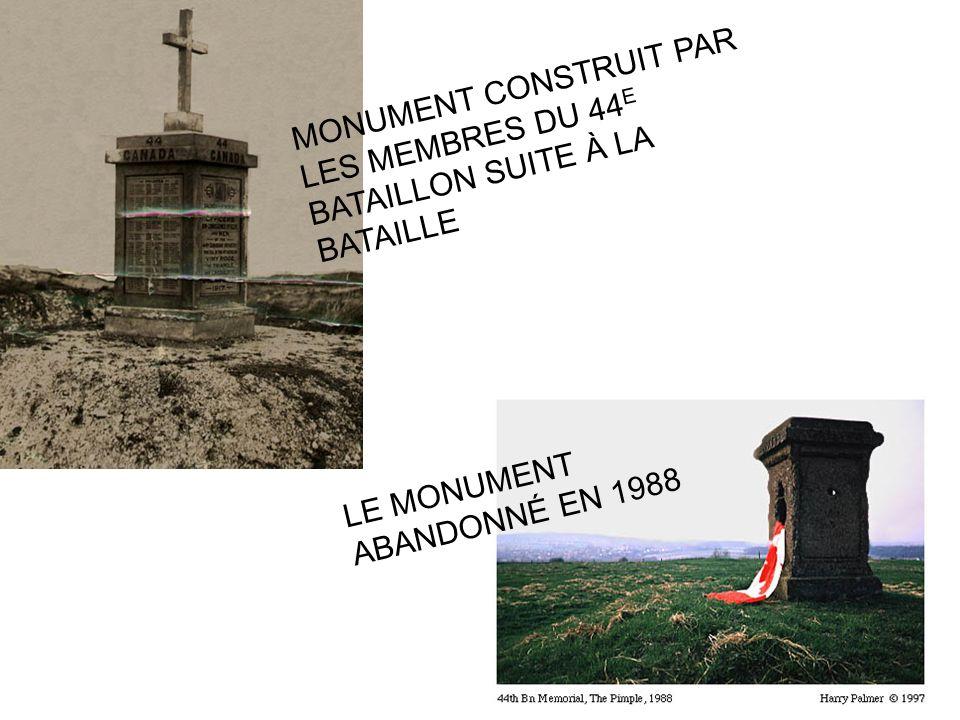 MONUMENT CONSTRUIT PAR LES MEMBRES DU 44E BATAILLON SUITE À LA BATAILLE