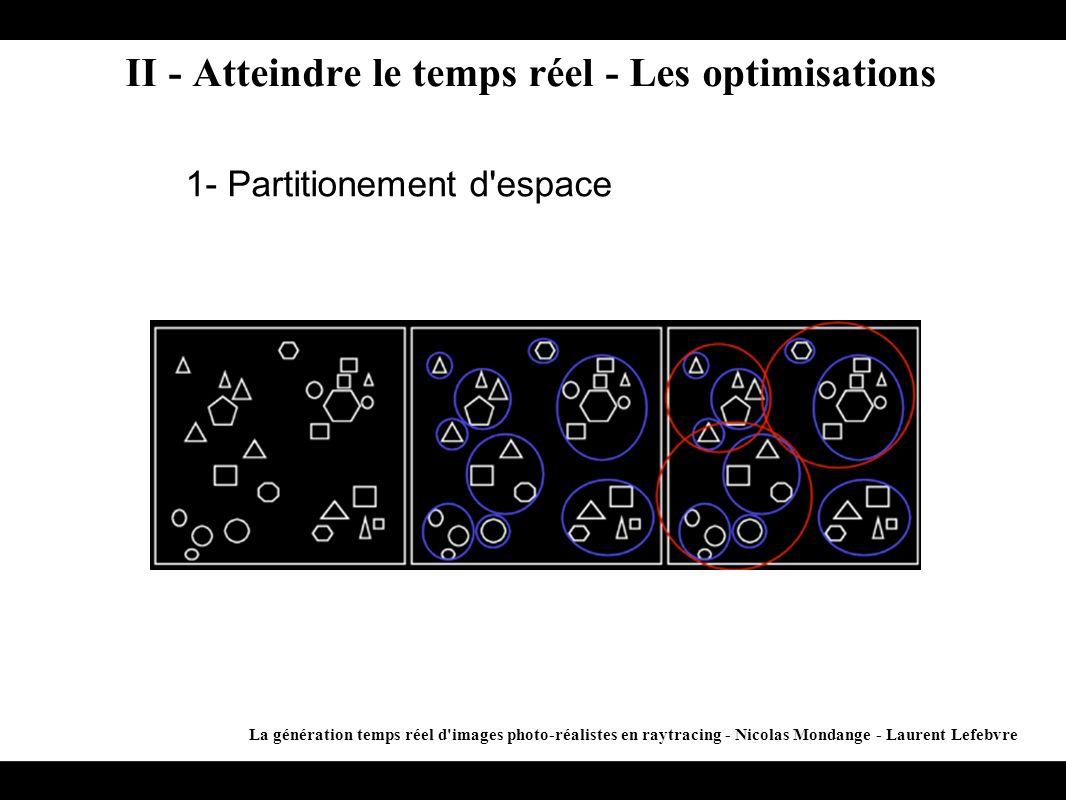II - Atteindre le temps réel - Les optimisations