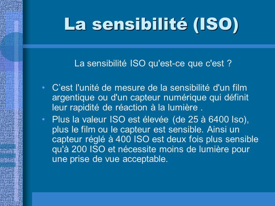 La sensibilité ISO qu est-ce que c est