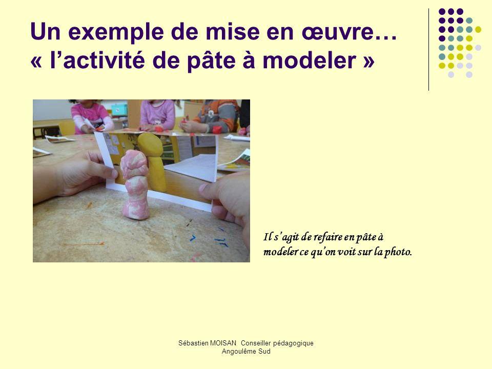 Un exemple de mise en œuvre… « l'activité de pâte à modeler »