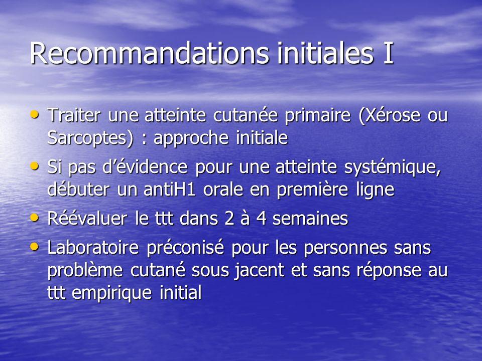 Recommandations initiales I