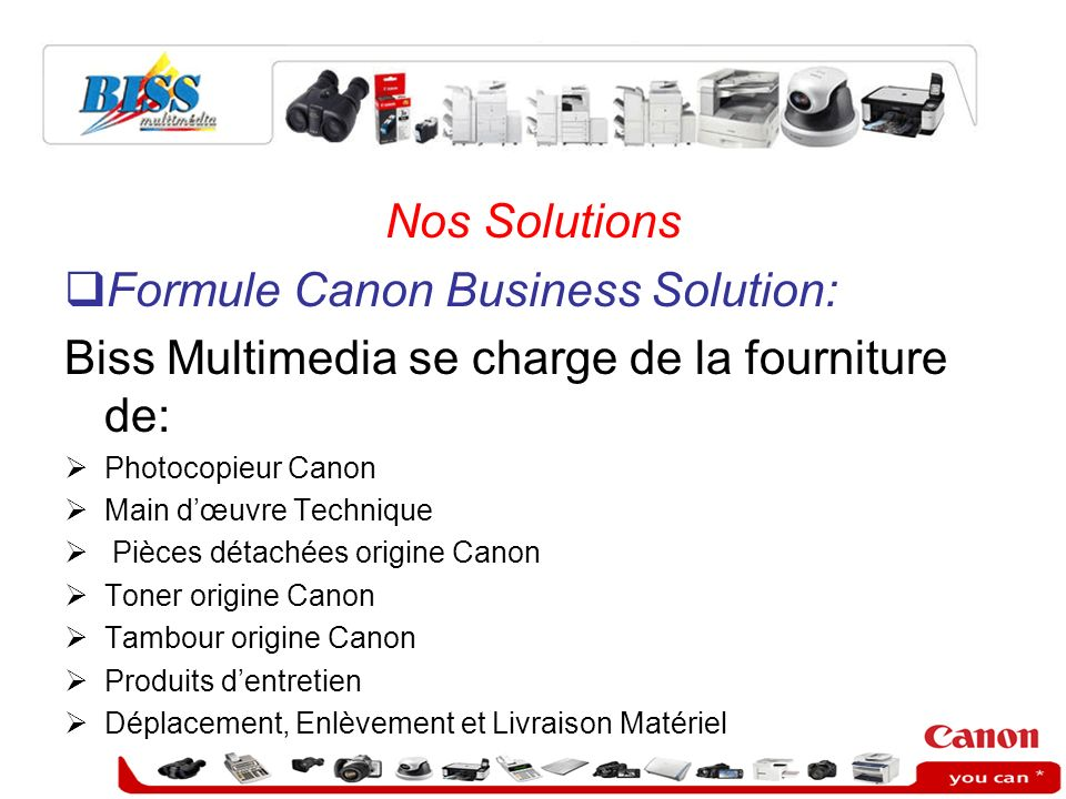 Formule Canon Business Solution: