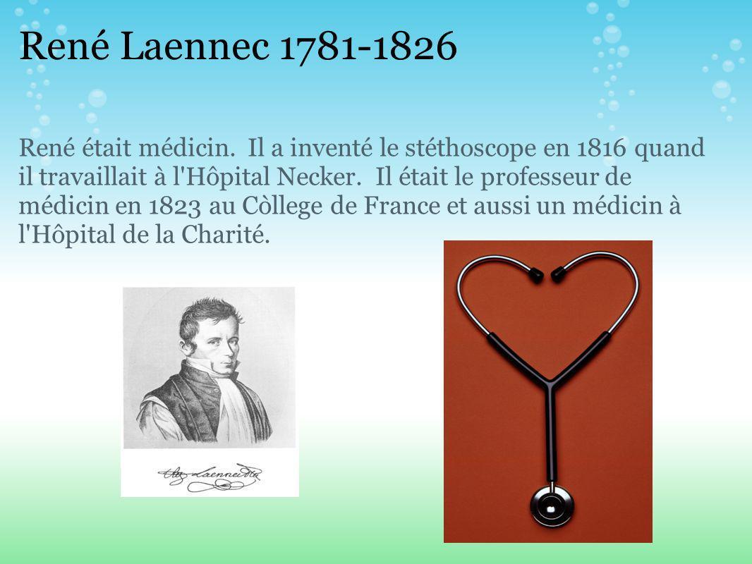 René Laennec 1781-1826