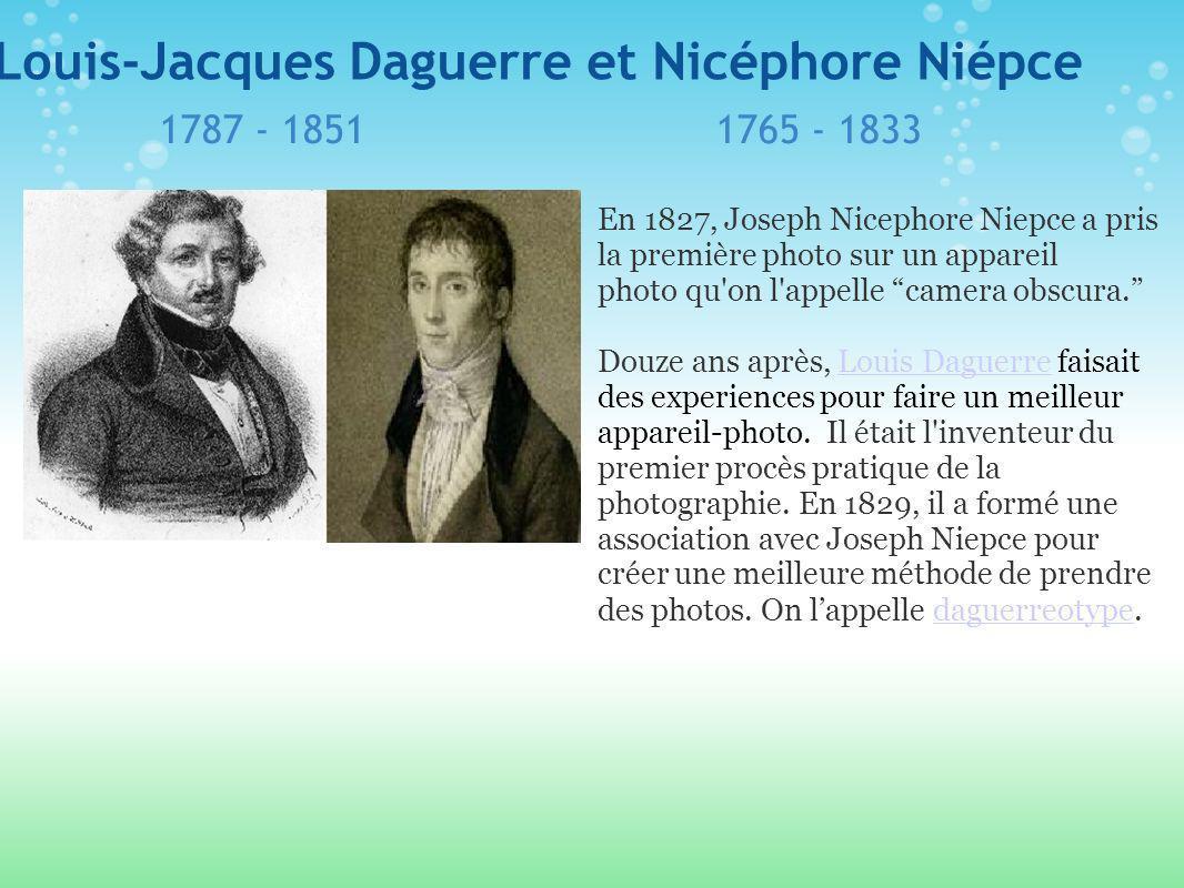 Louis-Jacques Daguerre et Nicéphore Niépce