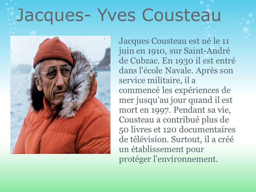 Jacques- Yves Cousteau