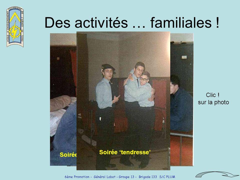 Des activités … familiales !