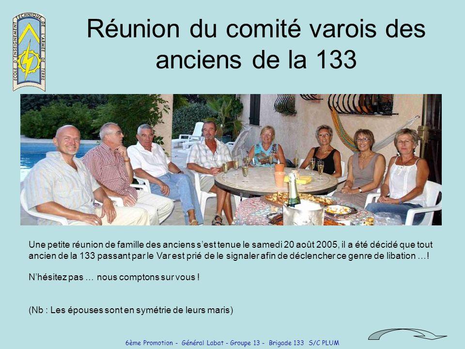 Réunion du comité varois des anciens de la 133