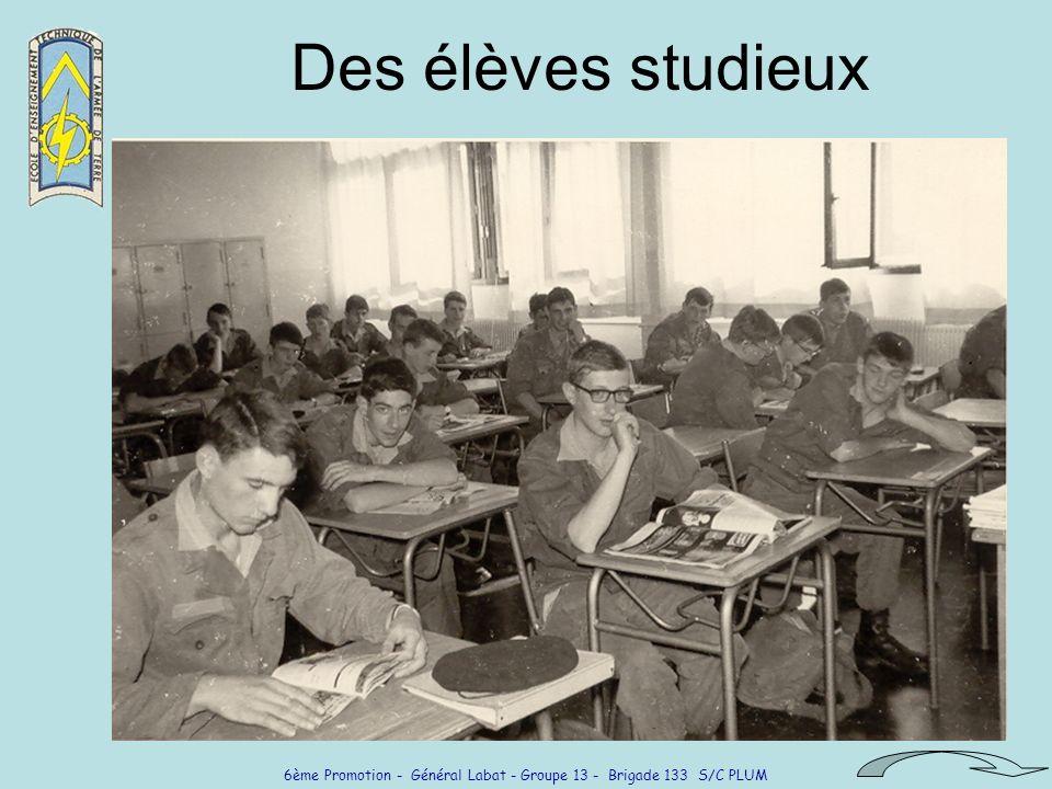 Des élèves studieux