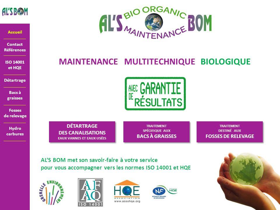 MAINTENANCE MULTITECHNIQUE BIOLOGIQUE