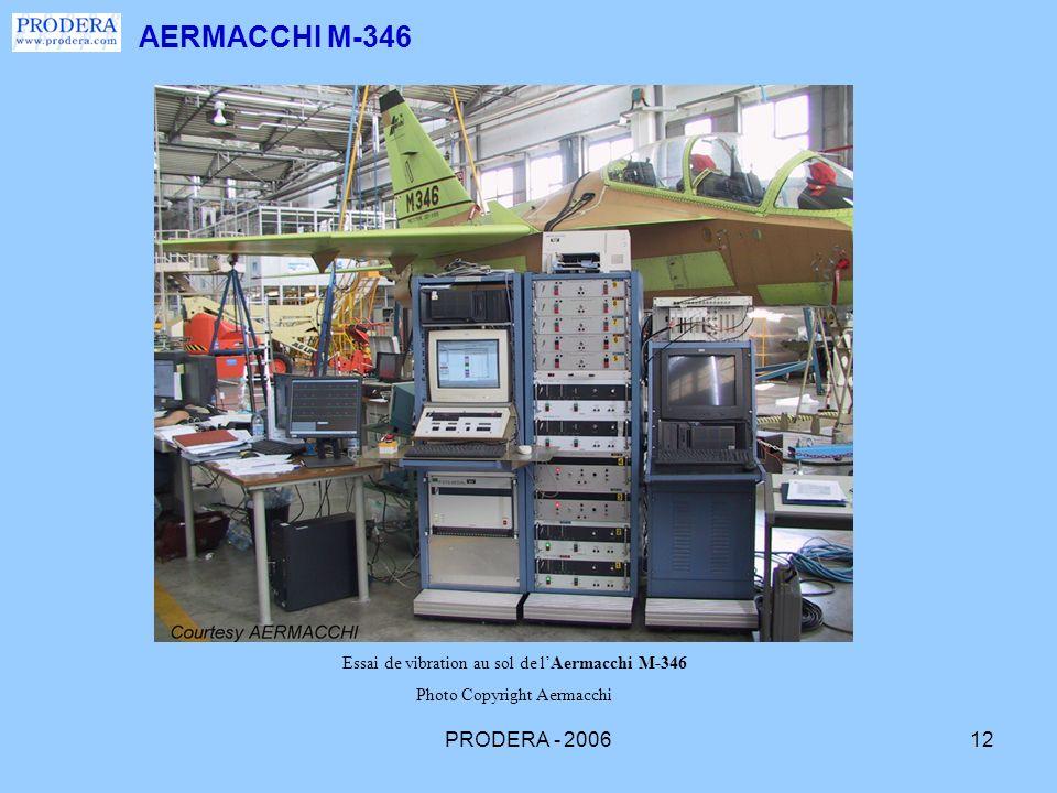 AERMACCHI M-346 Essai de vibration au sol de l'Aermacchi M-346.