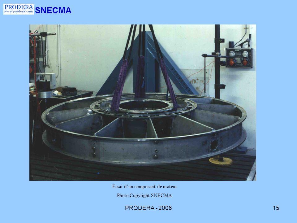 SNECMA PRODERA - 2006 Essai d'un composant de moteur