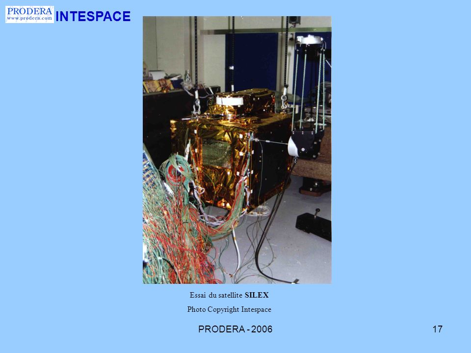 INTESPACE PRODERA - 2006 Essai du satellite SILEX