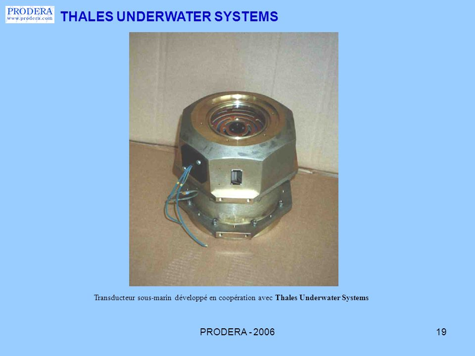 THALES UNDERWATER SYSTEMS