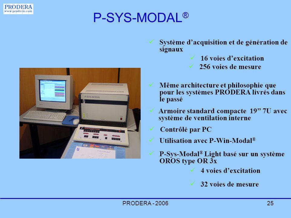 P-SYS-MODAL® Système d'acquisition et de génération de signaux