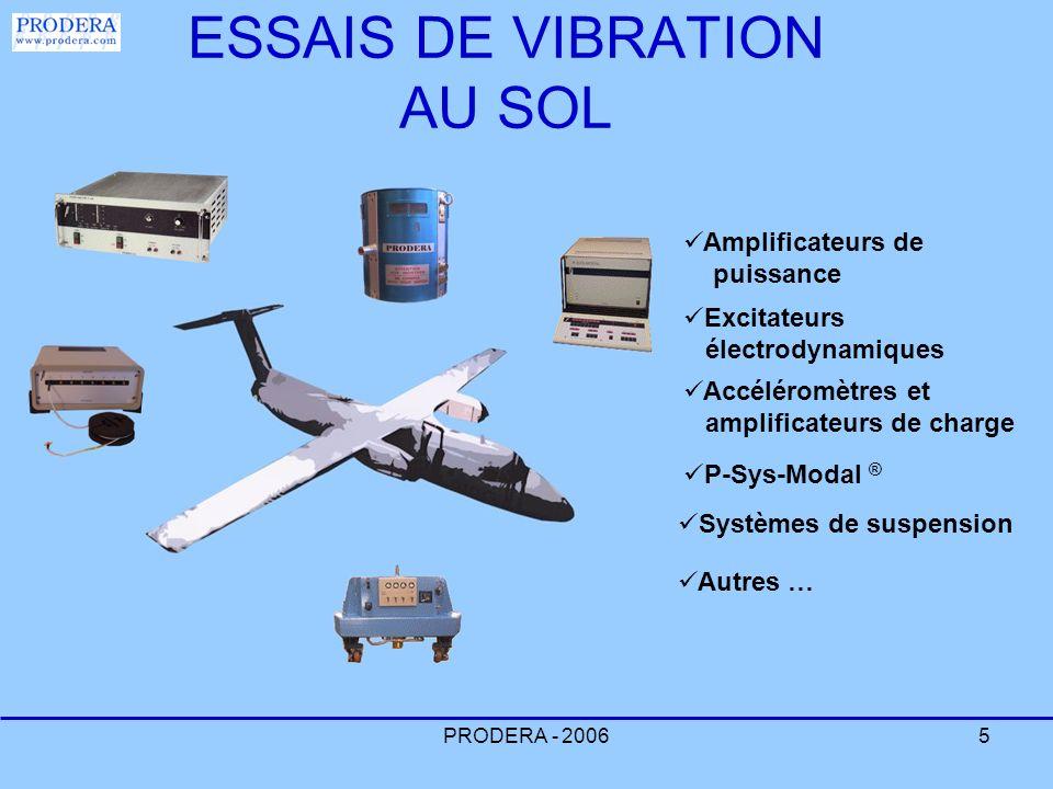 ESSAIS DE VIBRATION AU SOL