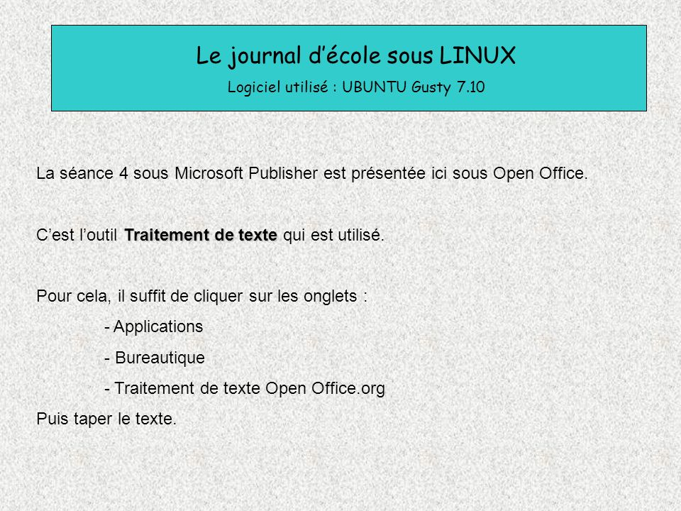 Tice cr ation d un journal de classe ppt video online - Telecharger traitement de texte open office ...