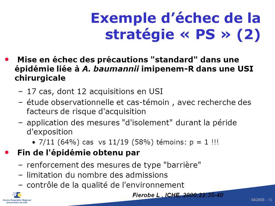 Exemple d'échec de la stratégie « PS » (2)